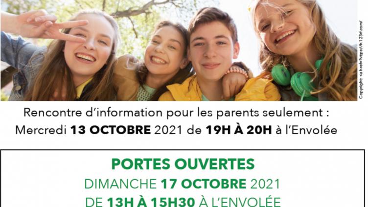 Portes ouvertes – 17 octobre 2021